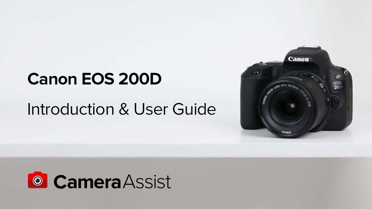 Canon EOS 200D DSLR Camera w/ Guided Display and 18-55mm Lens
