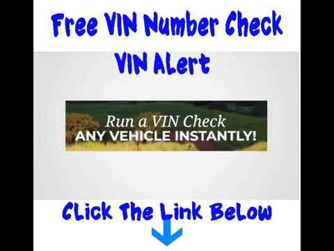 VIN number check free Get a free vin check and dmv vin history reports from  vin alert