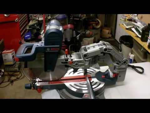 "Bosch 12"" Dual Bevel Glide Miter Saw Review Model GCM12SD"