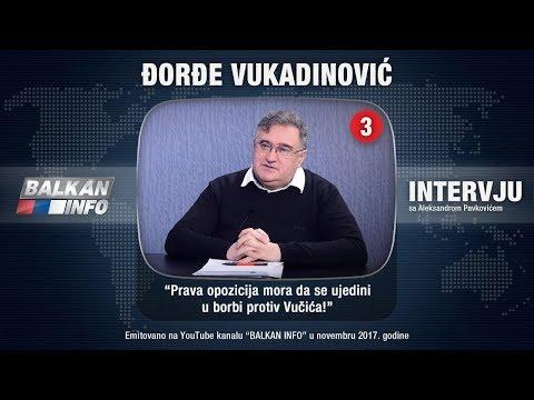 INTERVJU: Đorđe Vukadinović - Vučić želi da vlada do kraja života kao Josip Broz Tito! (17.11.2017)