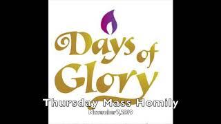 Thursday Mass Homily