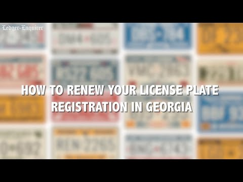 Tips For Renewing Your Georgia License Plate Tag