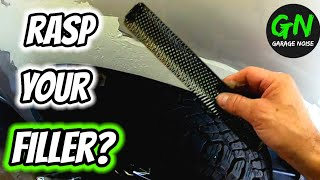How to sand and shape body filler. auto body and paint repair