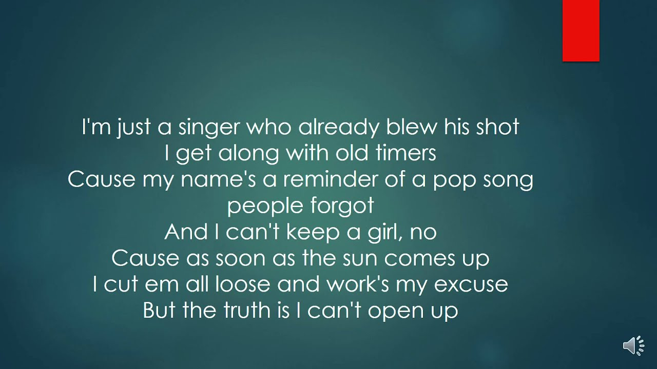 I took a pill in Ibiza - Mike Posner (lyrics video) - YouTube
