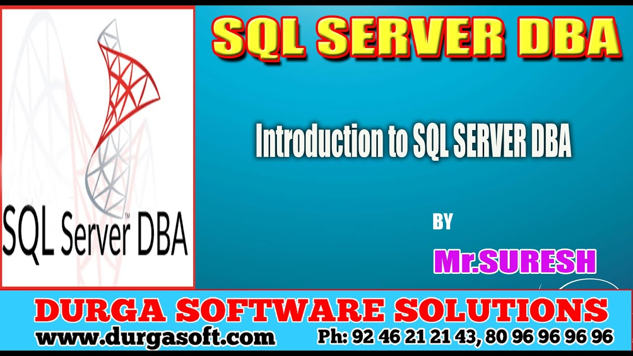 Sql Server Dba Pdf