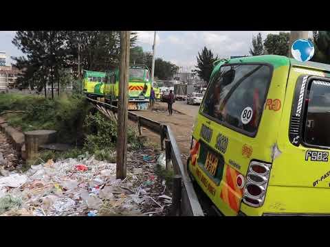 Nairobi: Deplorable pile of garbage dump next to Nairobi river, along Grogon Area