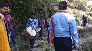 बरात स्वागतम सब्द मंडाण ||Brat Welcome Video||गढ़वाली ढोल बारात स्वागतम सब्द ||Rohit Panwar