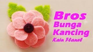 Cara Membuat Bros Bunga Kancing Dari Kain Flanel