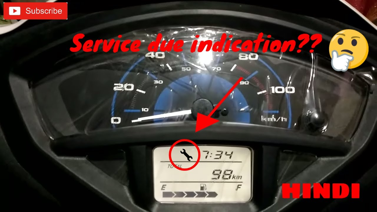 ||Activa 5G|| NEW FEATURES OF |SERVICE DUE| INDICATION IN HINDI || By ayush  goel||
