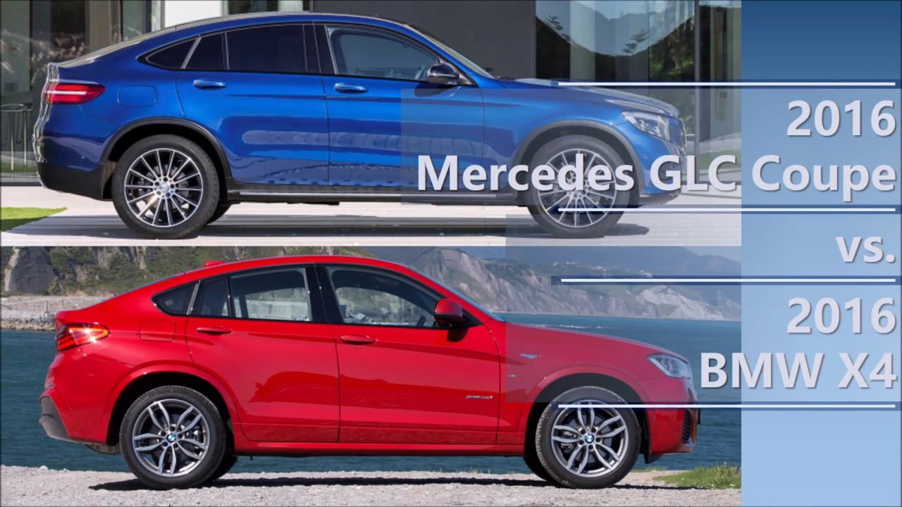 2016 Mercedes Glc Coupe Vs 2016 Bmw X4 Comparison Youtube