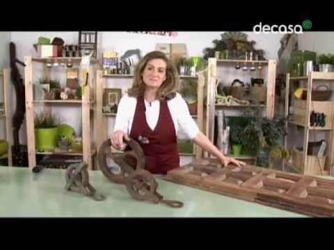 Reciclarte una mesa r stica youtube - Como decorar una mesa de comedor ...