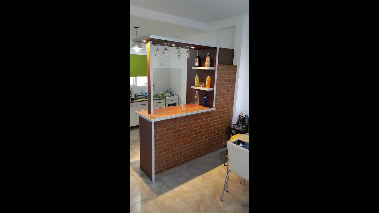 Barra desayunador divisor separador de ambientes fabrica villa devoto te 1552595800 youtube - Cocina de ladrillo ...