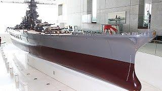 大和ミュージアム=戦艦「大和」巨大模型、回天試作機や火星二一型エンジンも