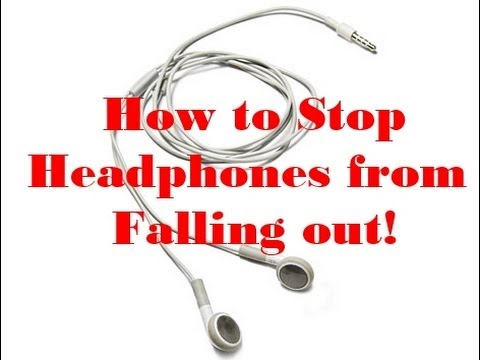 How to stop Iphone headphones from falling out of your Ears - YouTube a4aa6299b