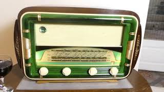 Wifi and Bluetooth speaker system Art Deco 1954 Océanic model La Frégate Radio with FM radio
