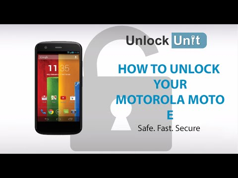How To Unlock Motorola Moto E By Unlock Code To Work With Any GSM