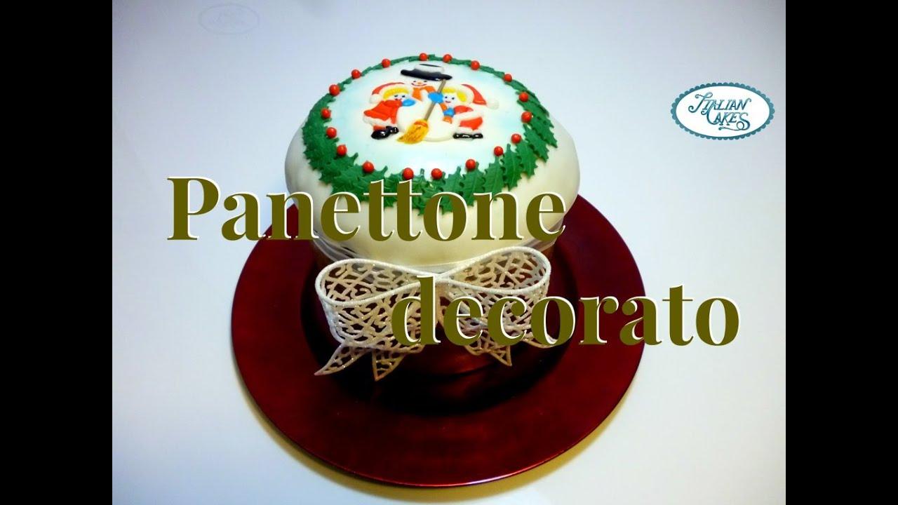 Panettone decorato con pasta di zucchero by ItalianCakes
