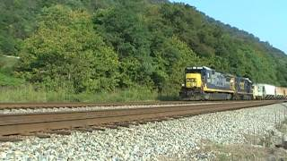 A Short Local Freight At Marmet, WV