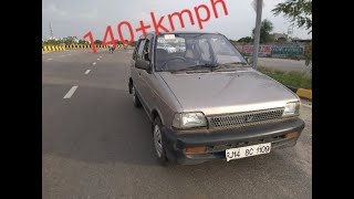 140+ kmph MARUTI SUZUKI 800 top speed || FULLY TUNED 800