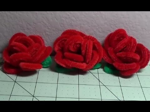 DIY~Make Beautiful U0026 Soft Red Christmas Roses Out Of Pipe Cleaners!    YouTube