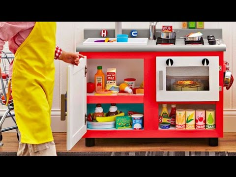Toy Kitchen - cooking toys for kids - toy kitchen set cooking playset for children by nice toys kind