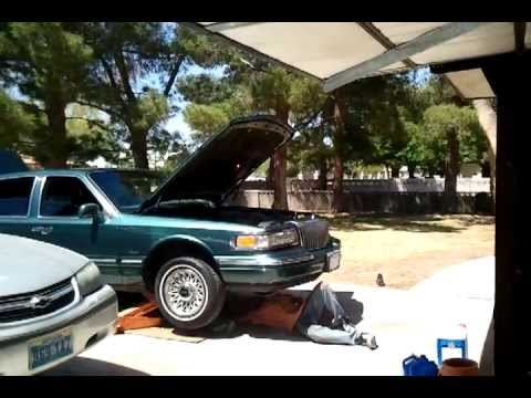 95 Lincoln Town Car Replace Transmission Gasket - YouTube