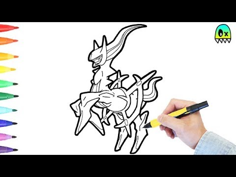 Pokemon Coloring Pages Arceus I Fun Coloring Videos for Kids YouTube