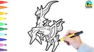 Pokemon Coloring Pages Arceus I Fun Coloring Videos for Kids