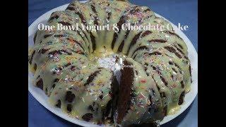One Bowl Yogurt &  Chocolate Cake