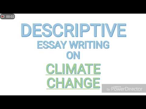 Essay on climate change in millennials