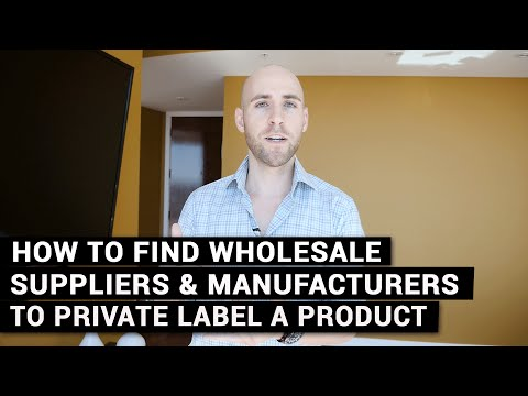 How To Find Wholesale Suppliers & Manufacturers To Private L