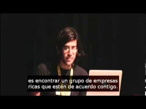 """F2C2012 Aaron Swartz """"Cómo detuvimos SOPA."""""""