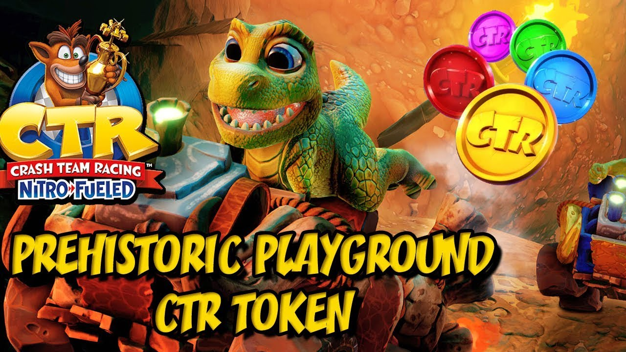 Crash Team Racing Nitro Fueled - Prehistoric Playground CTR Token Challenge  (HARD Difficulty)