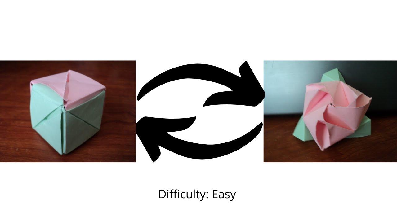 Origami Rose Easy - Origami Tutorial - YouTube | 720x1280