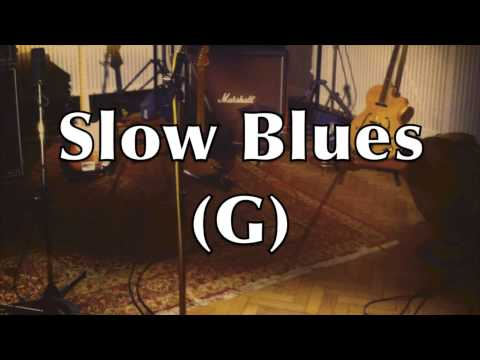 Slow Blues Backing Track (G)