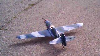 homemade p-40 take off and landing