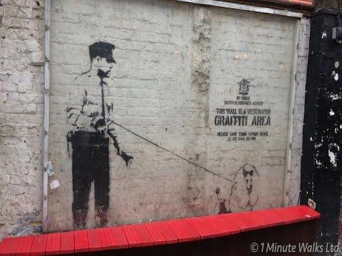 London Street Art Walk Shoreditch 1 Minute Walks Youtube