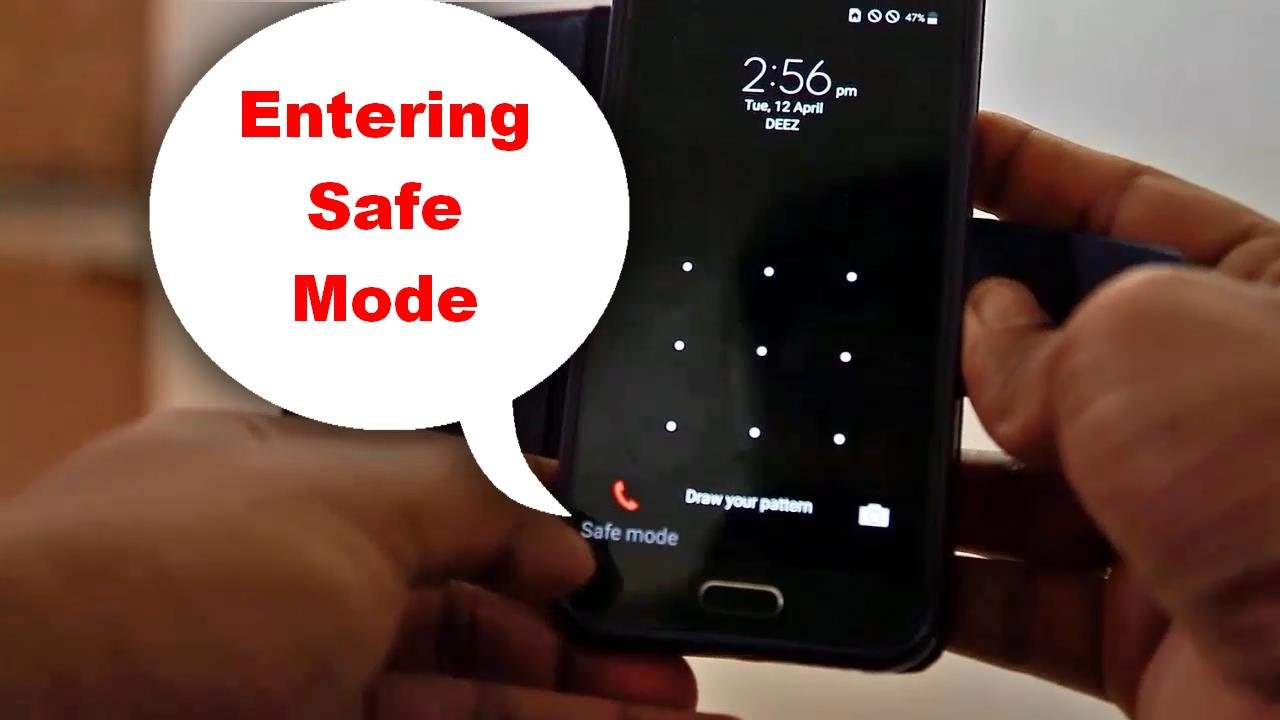 how to put samsung on safe mode