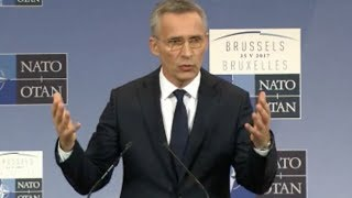 NATO Head Grilled About Trump