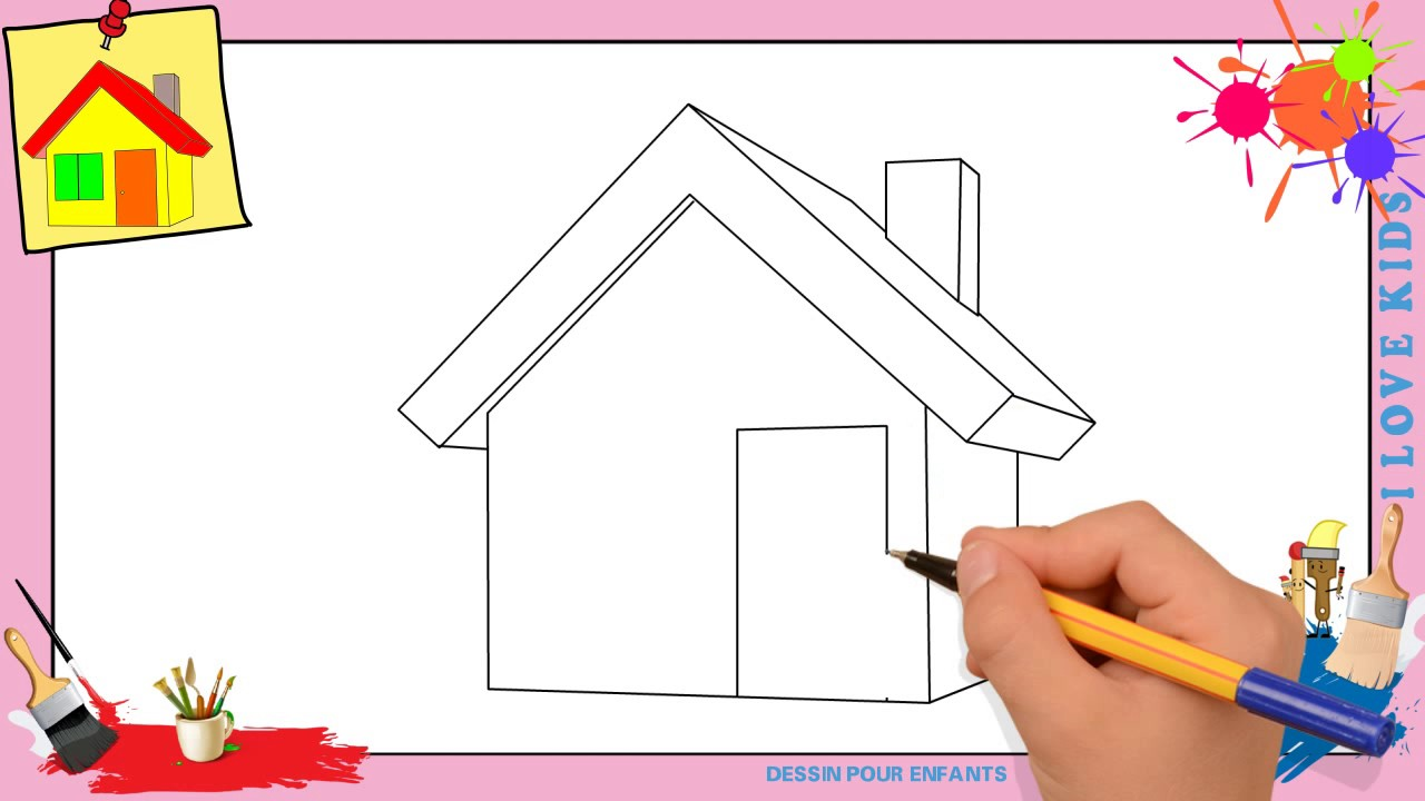dessin maison 3 comment dessiner une maison facilement etape par etape pour enfants youtube. Black Bedroom Furniture Sets. Home Design Ideas