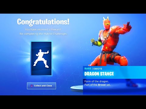 The New HYBRID EMOTE in Fortnite.. (Dragon Stance Emote)