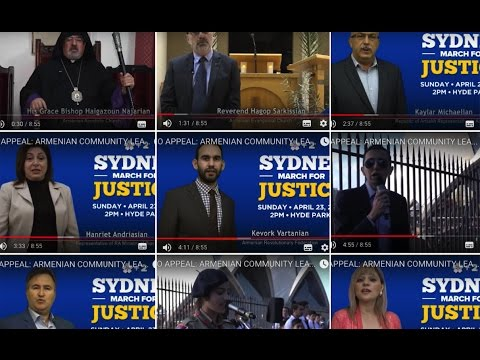 VIDEO APPEAL: ARMENIAN COMMUNITY LEADERS CALL ON SYDNEY TO #MARCHFORJUSTICE