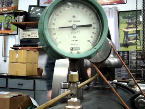 Compression check - 3 1/2 HP 1882 slide valve Piano Base Crossley Flame Ignition Engine