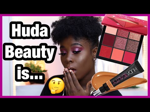 $27 HUDA BEAUTY PRECIOUS STONES COLLECTION RUBY PALETTE & THE OVERACHIEVER HIGH COVERAGE CONCEALER