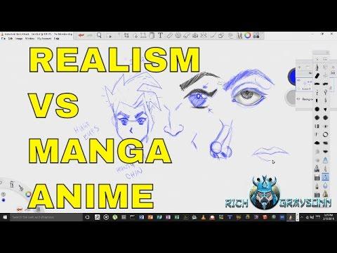 How to Draw more Realistic vs Manga Anime