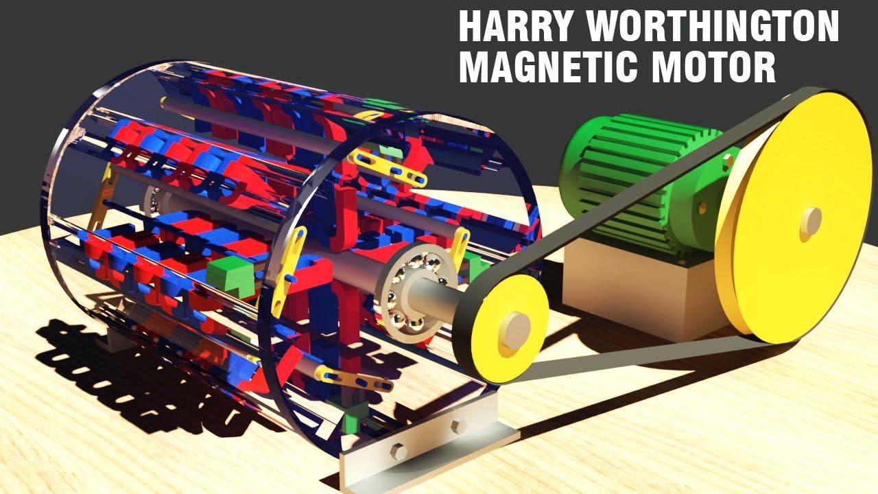 Free Energy Generator Harry Worthington Magnetic Motor Youtube