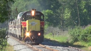 Cuyahoga Valley Scenic Railroad with HZRX 8420 & CVSR 4241