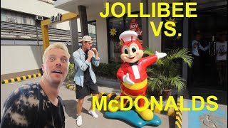 JOLLIBEE vs. McDONALDS!!! AMERICANS FIRST TIME EATING JOLLIBEE!!! ft. Bisayang Hilaw