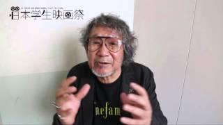 映画監督の大林宣彦監督に日本学生映画祭の作品に向けてビデオメッセー...