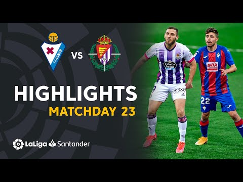 Highlights SD Eibar vs Real Valladolid (1-1)